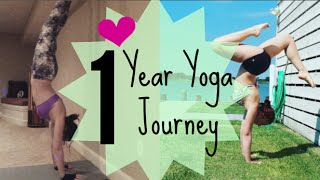 1 Year Yoga Journey With Lots Of Pics!