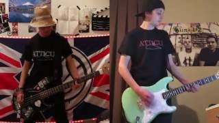 blink-182 Sober guitar and bass cover
