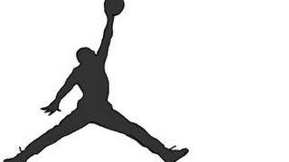 How to draw Jordan, Jumpman logo