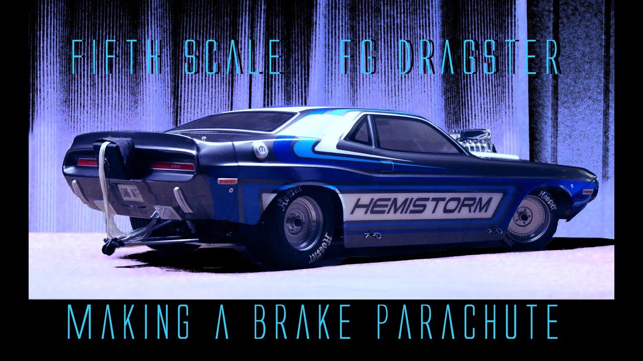 Build A Challenger >> How to make a BRAKE PARACHUTE - FG Dragster RC custom build - YouTube