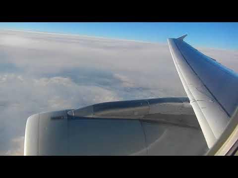 Airbus A321 Lufthansa full flight Frankfurt to London Heathrow