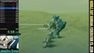 Mobile Suit Gundam: Federation vs. Zeon - Speedrun - Federation Route Normal