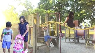 ハイハイ 赤ちゃん人形と公園で遊びました♫ ベビーカー お出かけ こうくんねみちゃん BabyAlive Baby Go Bye-Bye BabyDoll Play Park thumbnail