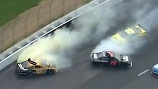 NASCAR Kurt Busch and Ryan Newman Wreck | Camping World RV Sales 301, New Hampshire