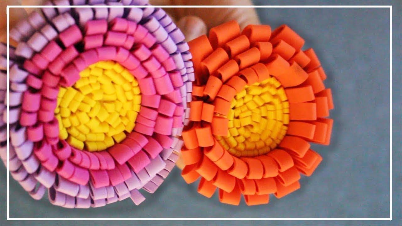791a5195f11 Como hacer flores de goma eva fáciles y bonitas