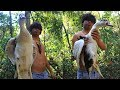 Real 100% Gold Necklace In Duck Stomach and then Cooking Duck In Forest