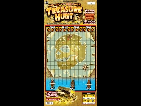$5 Treasure Hunt - Kansas Lottery - Scratcher