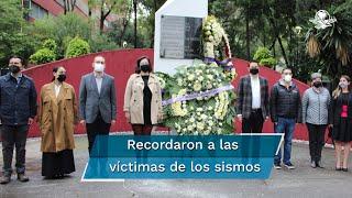 En conmemoración a los sismos de 1985 y 2017, se llevaron a cabo ceremonias y homenajes en distintos puntos de la CDMX