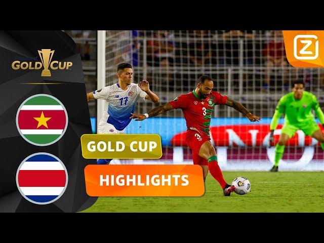 TWEE GOALS IN ÉÉN MINUUT! 😵 | Suriname vs Costa Rica | CONCACAF Gold Cup 2021 | Samenvatting