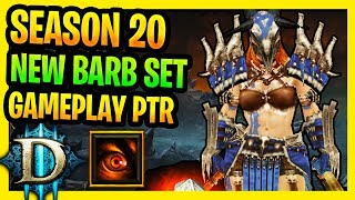 Diablo 3 Season 20 New Barbarian Set Gameplay PTR Barbarian Best Horde of the Ninety Savages Build