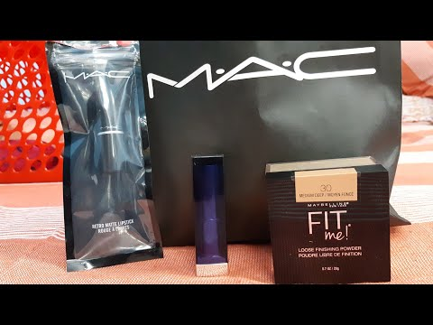 Shoppers stop mini haul   mac cosmetics   Maybelline   fit me loose powder   membership card  