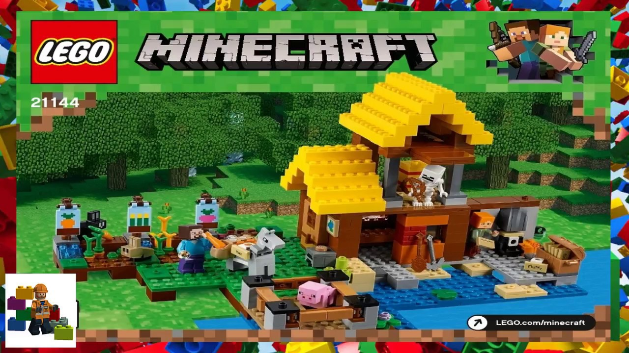 Lego Instructions Minecraft 21144 The Farm Cottage Book 1