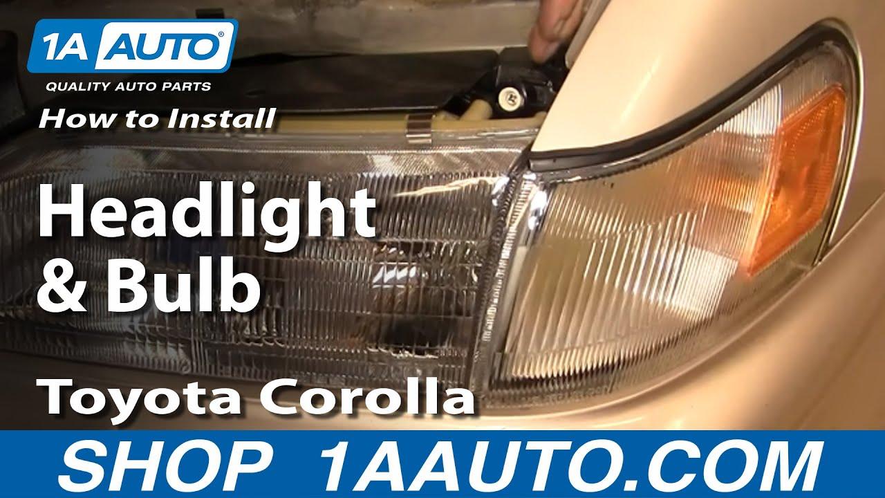 medium resolution of how to replace headlights 93 97 toyota corolla