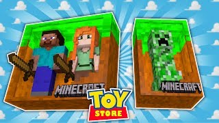 ENDERPORTALS CAUSE CHAOS IN THE STORE! Minecraft Toystore | Little Kelly