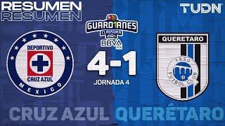 Resumen y goles | Cruz Azul 4-1 Querétaro | Torneo Guard1anes 2021 BBVA MX  - J4 | TUDN