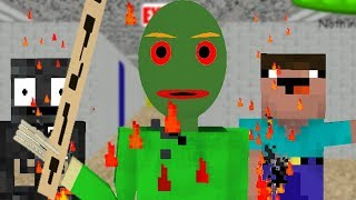 Monster School : BALDI\'S BASICS ZOMBIE APOCALYPSE Challenge - Minecraft Animation