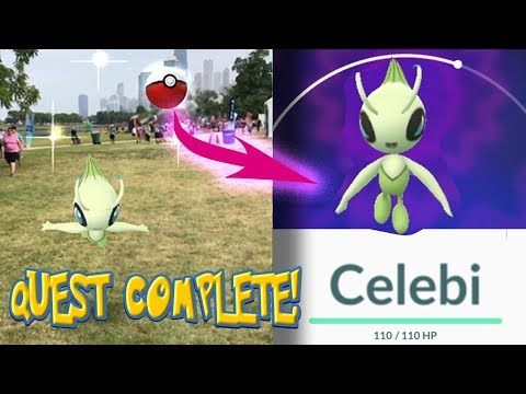 CELEBI CAUGHT!! QUEST COMPLETION IS FINALIZED in Pokemon Go