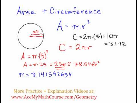 basic geometry area and circumference of circles youtube. Black Bedroom Furniture Sets. Home Design Ideas