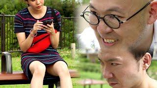 ミニスカ女子のパンティの色を当てろ!【夏ドラマ「夏と空色のパンティー」水色編】