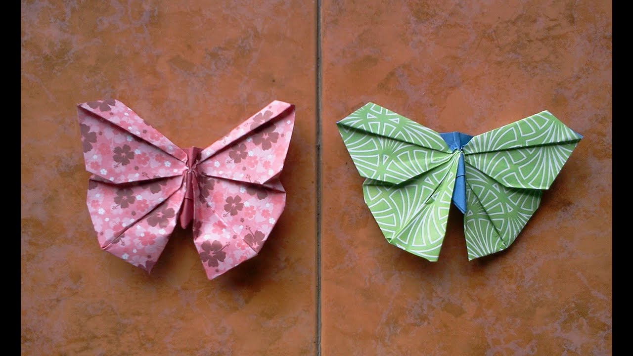 How to make Origami Butterfly - YouTube