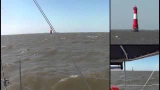 Athena 38 Catamaran sailing at 25 knots true wind