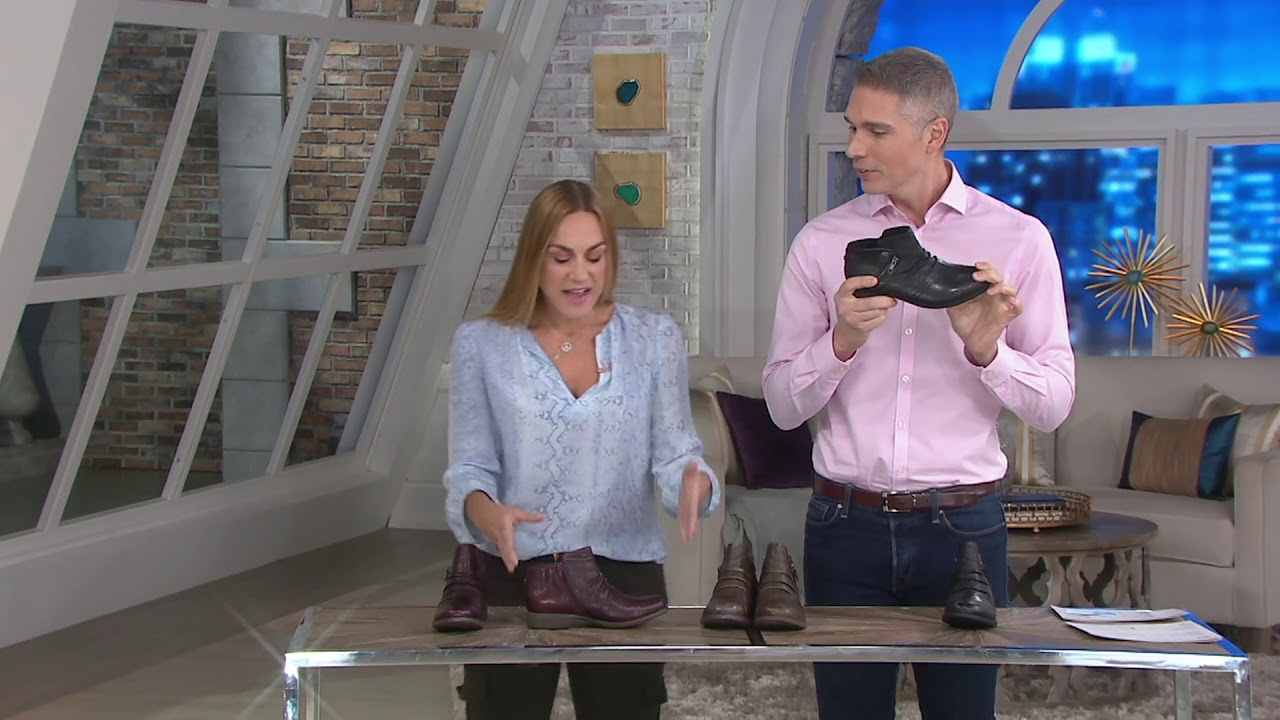 6b285a2e1c0d Earth Leather Ruched Ankle Boots - Ronan on QVC - YouTube