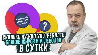 Диетолог Ковальков про белки, жиры и углеводы.