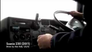SCANIA 230 (2011) split shift gears 4 over 4 driven with commentary by Alan Kelly