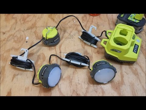 Ryobi P785 18V 18-Volt Hybrid ONE Cordless LED Cable Lights Tool Only