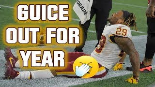The Redskins Report: BREAKING NEWS: DERRIUS GUICE TEARS HIS ACL!!!!! 😵😵😵