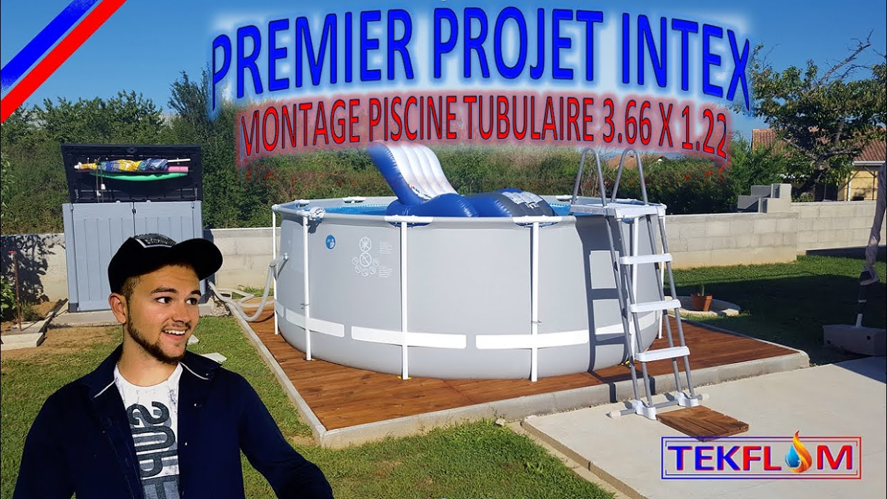 HIVERNAGE PISCINE HORS-SOL TUBULAIRE INTEX - YouTube