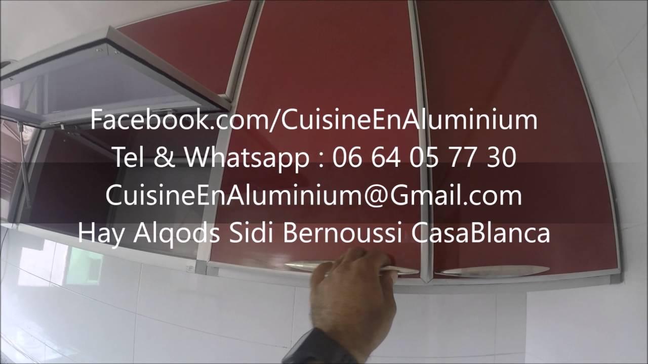 Cuisine en aluminium rouge bordeaux   youtube