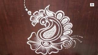 Creative & Simple Kolam / rangoli Design without using Dots || maitrin 2018