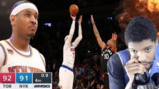 HESO MELO BACK TO BACK GAME WINNERS!?! RAPTORS vs KNICKS HIGHLIGHTS REACTION