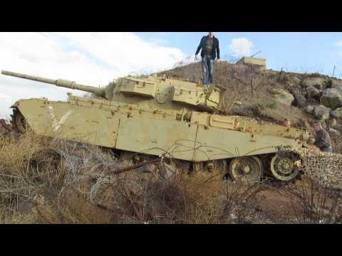 The Golan Heights - Tal Saki, Israel: Old Israeli tank
