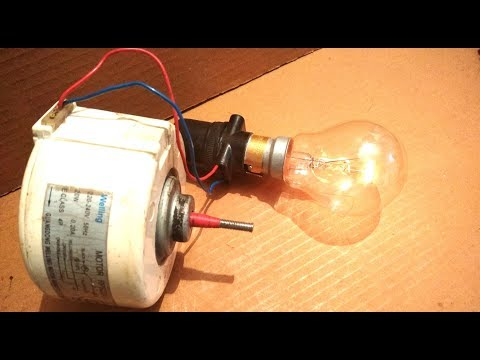 Free Energy Generator from a Dead Induction Motor DIY