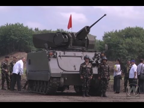 WATCH | PH Army APC with 25mm M242 Bushmaster Machine Gun System