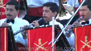 The Indian Army Symphonic Band performing on the India Gate lawns in the Capital
