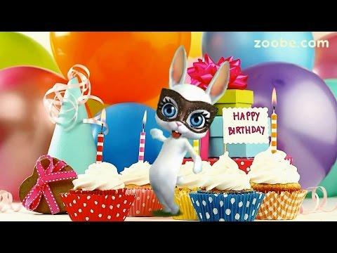 Zoobe Зайка С днём рождения, подруга!!! Зажигательное поздравление - Как поздравить с Днем Рождения