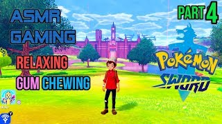ASMR Gaming | Pokemon Sword Shield Relaxing Gum Chewing Part 4 ????????Controller Sounds + Whispering????????