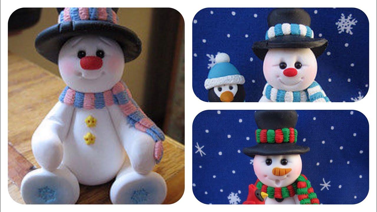 Creating A Polymer Clay Snowman Polymer Clay Christmas Polymer Clay Ornaments Christmas Clay