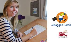 Flight attendant creates comic strip