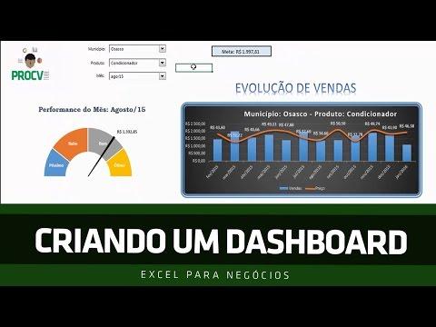  DASHBOARD EXCEL  CRIANDO PRIMEIRO DASHBOARD - Excel para Negócios