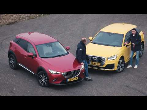 ANWB Dubbeltest Audi Q2 vs. Mazda CX-3 januari 2017 * ENGLISH SUBTITLES *