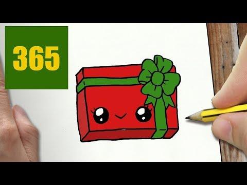Disegni Di Natale Kawaii.Come Disegnare Regali Di Natale Kawaii Passo Dopo Passo Disegni