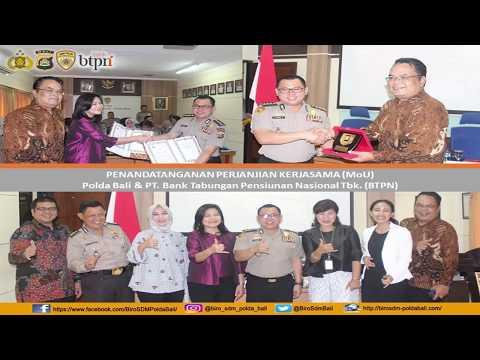 Polda Bali - MoU Polda Bali dengan PT Bank Tabungan Pensiunan Nasional Tbk