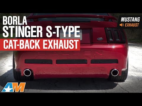 1999-2004 Mustang GT & Mach 1 Borla Stinger S-Type Cat-Back Exhaust Sound Clip & Install