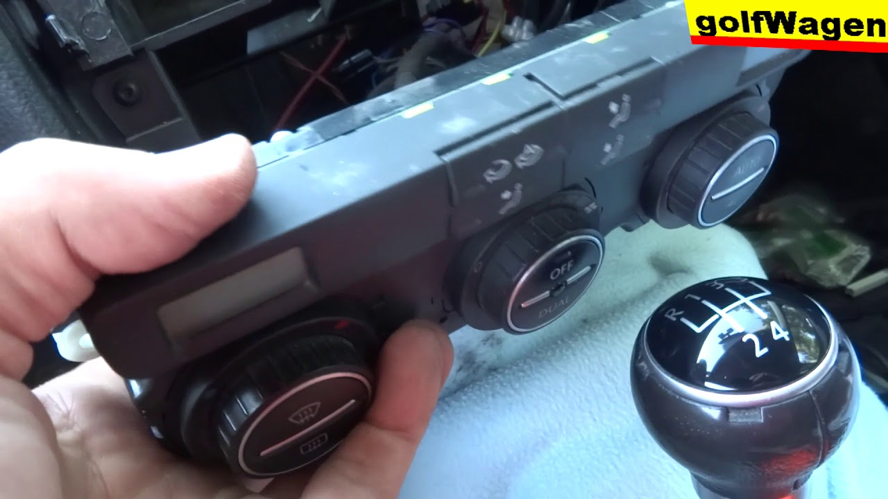 VW Golf 5 HVAC climate control unit replacement and RCD300 replacement /  klima heizung schalter
