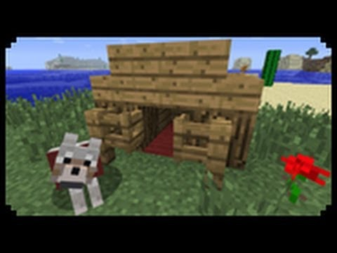 Minecraft how to make a dog house youtube for Things to include when building a house