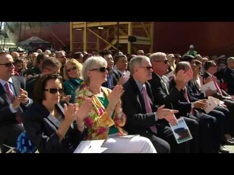 General Dynamics NASSCO LIVE: Christening Ceremony for the Bay State